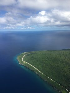 First view of Christmas Island