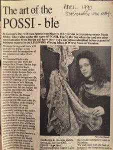 First Newspaper article as Possi 1990